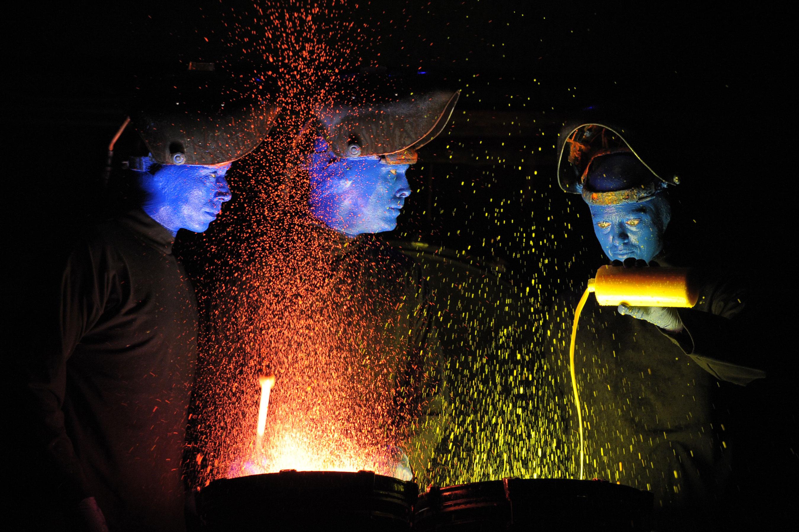 Blue Man Group Drum Painting